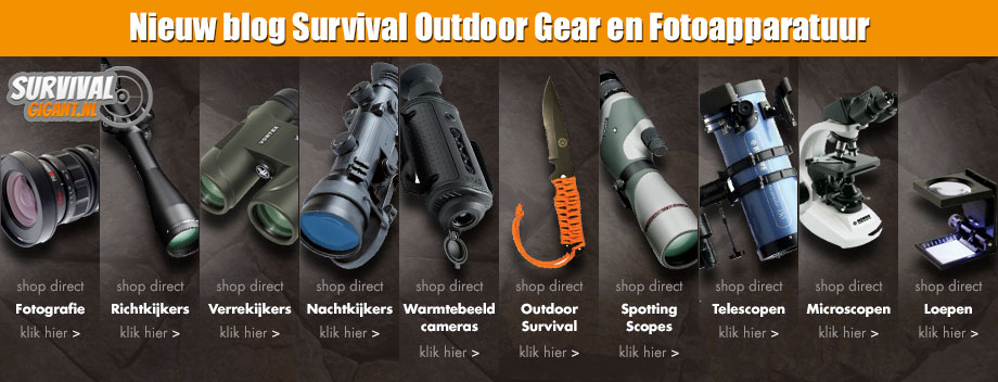Nieuw blog Survival Outdoor Gear + Fotoapparatuur & Fotostudio apparatuur