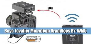 Boya Lavalier Microfoon Draadloos BY-WM5 reikwijdte 50 m