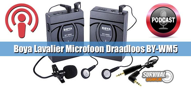 Boya Lavalier Microfoon Draadloos BY-WM5