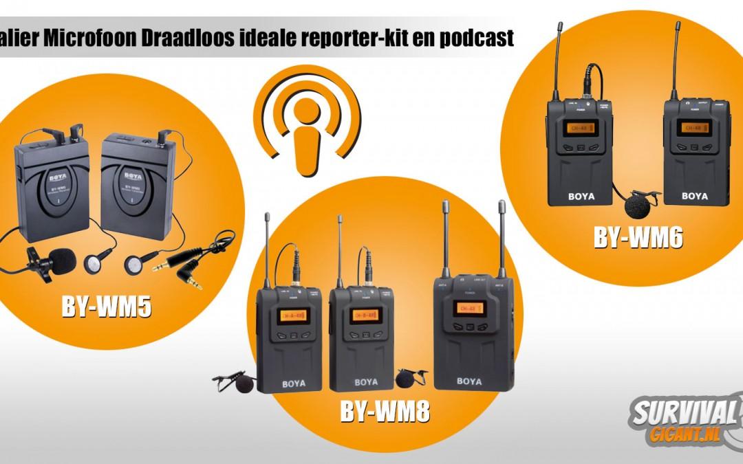 Lavalier Microfoon Draadloos ideale reporter-kit en podcast