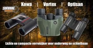 Lichte en compacte verrekijker voor onderweg en op de schietbaan
