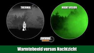 Warmtebeeldcamera kijkt door mist, nevel, rook en regen