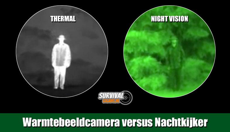 Visuele beeldcontrast ontbreekt bij nachtkijker