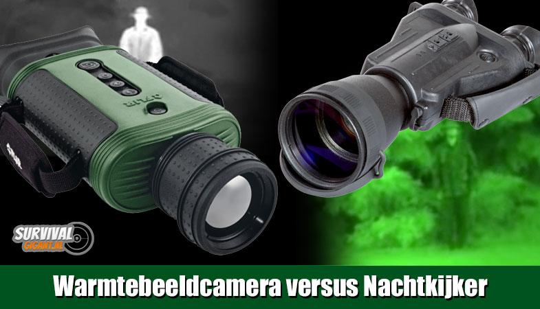 Warmtebeeldcamera versus Nachtkijker – warmtebeeld versus nachtzicht