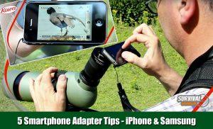5 Smartphone Adapter Tips voor Spotting scope en Verrekijker op iPhone en Samsung