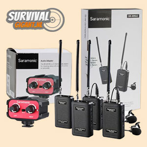 Dubbele Microfoon Set Draadloos SR-WM4C met Audiomixer AX100