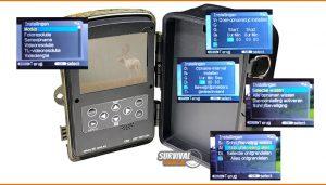 20 Instellingen van de Wildcamera night vision die op het LCD-scherm aan te passen zijn