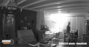 Beeldkwaliteit Wildcamera night vision 1280x720px kunstlicht binnen