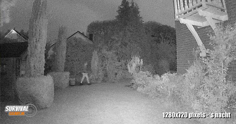 Beeldkwaliteit Wildcamera night vision 1280x720px nacht