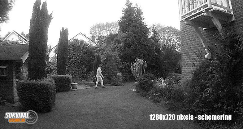Beeldkwaliteit Wildcamera night vision 1280x720px scherming