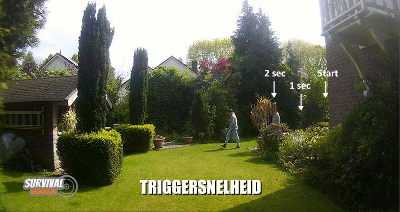 Triggersnelheid; Hoe snel reageert de wildcamera na detectie van de bewegingssensoren?